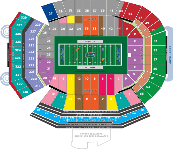 Ben Hill Griffin Stadium Seating Chart Florida Gators