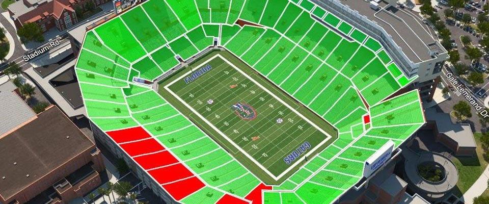 Gator Ticket Office Announces Virtual Venue Seat Selection