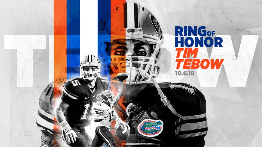 best website e3c7a b86a8 Tim Tebow Named to UF's Ring of Honor - Florida Gators